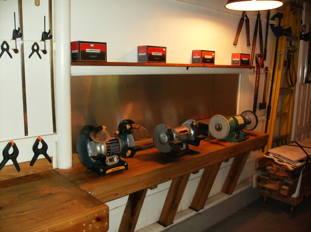 The Grinding Station Is An Extension Of Miter Saw Table